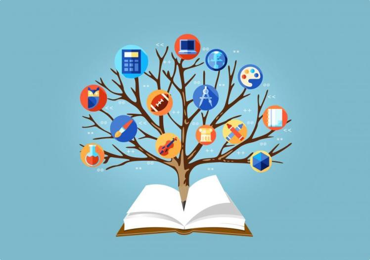 education-concept--learning-concept--with-tree-of-knowledge-